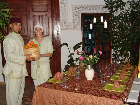 Riad Les Nuits de Marrakech: Salle à manger