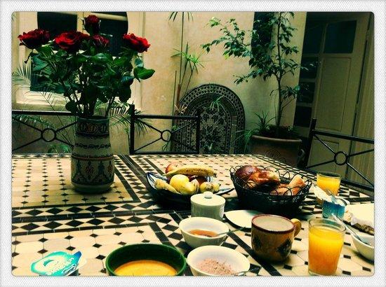 Riad Zelaka: petit déjeuner