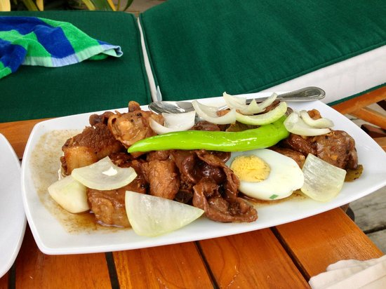 Henann Lagoon Resort: very tasty adobo