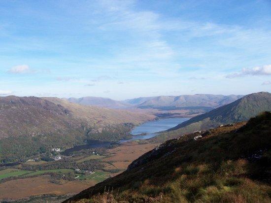 An Caladh Gearr Thatch Cottage B+B : Trek up Diamond Hill, Conamara for this view