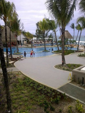 Ambre Resort & Spa: View from Hotel Room, Pool Area and Beach