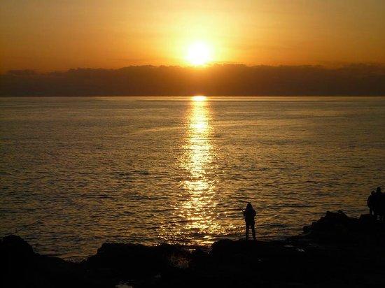 Chigogafuchi Marine Plateau : 稚児ヶ淵からの夕日