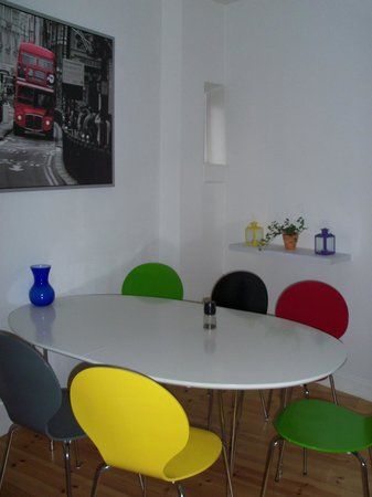 Rent a Room Copenhagen : Dining table - modern contrast to rest of apartments!