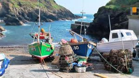 Crab and Lobster boats in Portloe Harbour