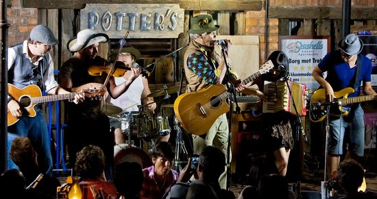 Potter's Place : The Radio Kalahari Orkes playing at Potters Place