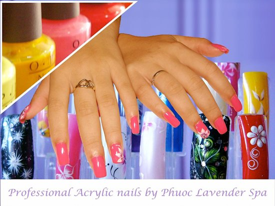 Phuoc Lavender Spa: Acrylic nails