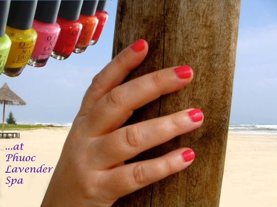 Phuoc Lavender Spa: OPI products used