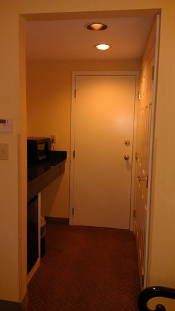 Hotel Boston: alcove has microwave, coffee maker and fridge