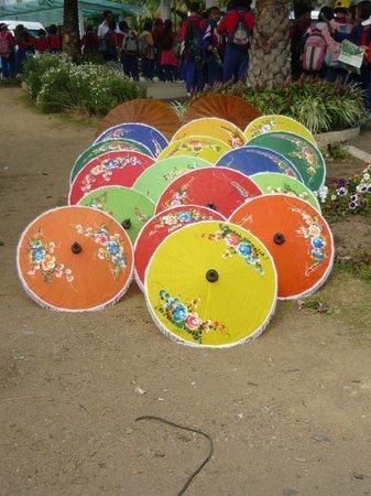 Royal Park Rajapruek: Traditional umbrellas
