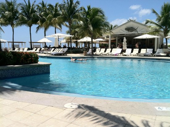 The Ritz-Carlton, Grand Cayman: sitting by the pool