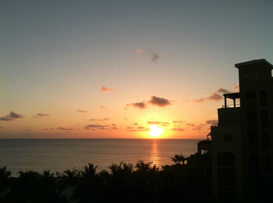 The Ritz-Carlton Grand Cayman: sunset view from the room