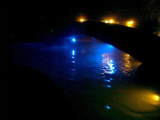 Hotel y Aguas Termales de Chignahuapan: Alberca termal de noche