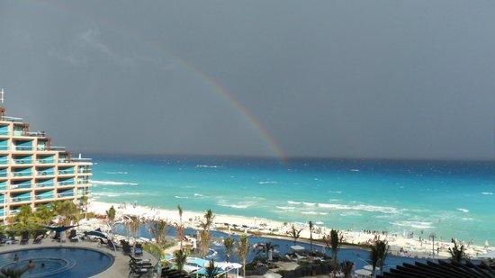Hard Rock Hotel Cancun: Tormenta? No. Arco Iris