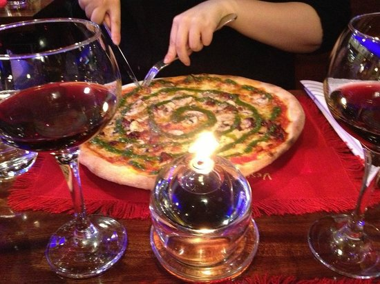 Ristorante Vesuvio of Copenhagen: Pesto Pizza