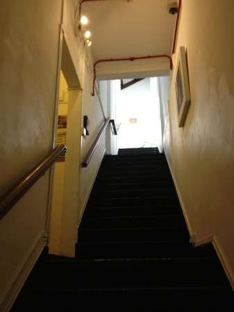 5footway.inn Project Chinatown: staircase to breakfast nook