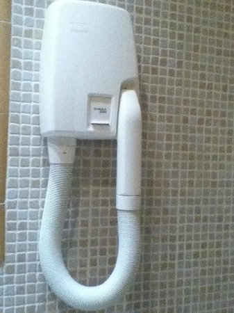 """Hotel Saint-Jacques: This is the """"hairdryer"""" in the bathroom, it was like a man blowing on your hair."""