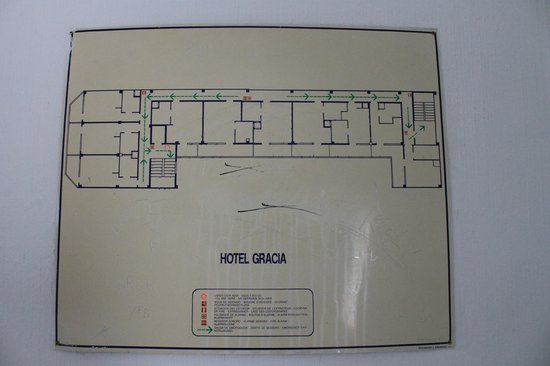 Hotel Gracia: piantina dell'hotel