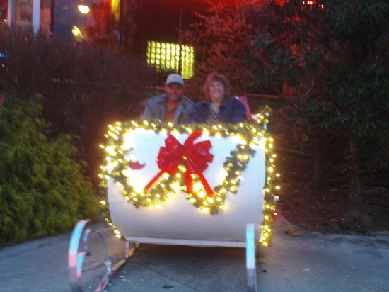Black Bear Inn & Suites: Winterfest sleigh out front