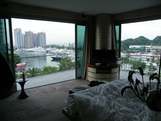W Singapore Sentosa Cove: view from 502 bed