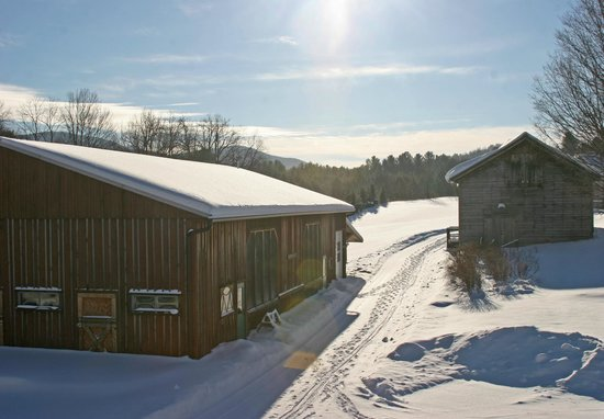 Starksboro, VT: Common Ground Center boasts 500+ acres of snowshoeing trails and a cozy woodstove in the lodge.