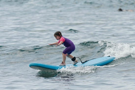 Surfer Bear Hawaii Surf Lessons : Happy 4 year-old new surfer!!