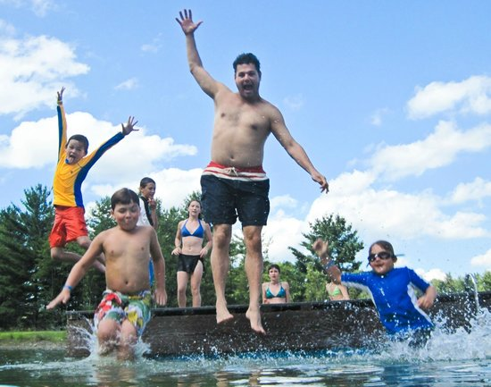 Camp Common Ground: A dip in the two-acre private pond is refreshing for all ages!