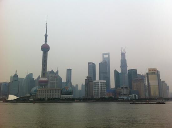 The Bund (Wai Tan): Aussicht auf Pudong