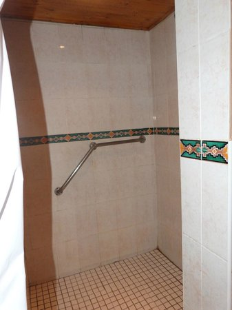 Dumazulu Game Lodge and Traditional Village: Shower cubicle in our room