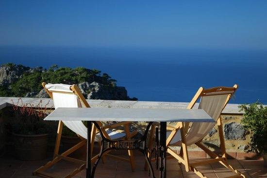 Dorovinis Country Houses: view from the terrace (great reading place and fabulous dining room!!!)