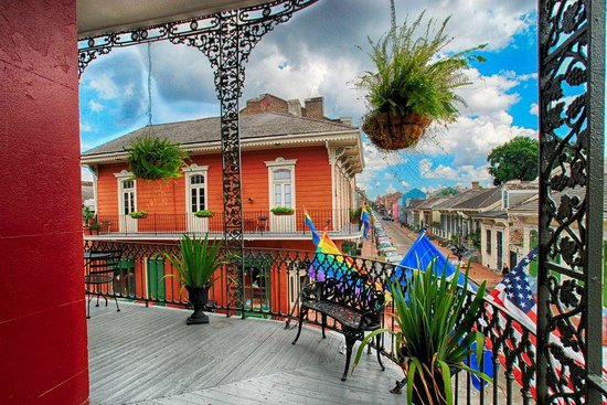 Inn on St. Peter : Balcony View of the French Quarter