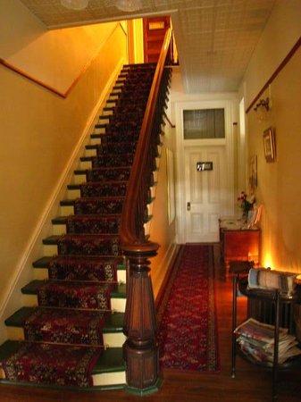 The Inn on Broadway: Elegant stairway to rooms upstairs