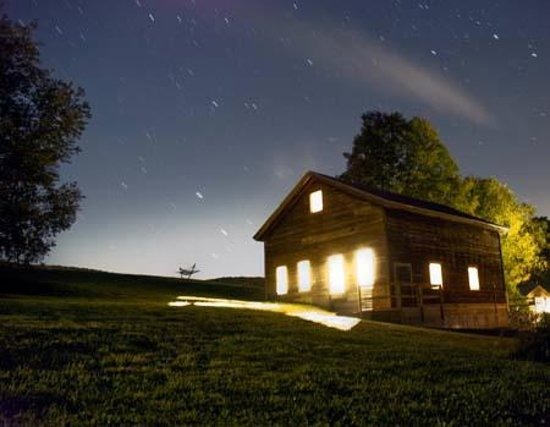 Camp Common Ground: The 1000 sq. ft. Haybarn is ideal for meetings, yoga, and wedding ceremonies.