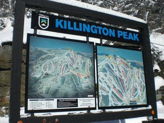 Killington Mountain Lodge: piste map on mountain