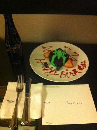 The Westin New York Grand Central: Complimentary birthday cake!!