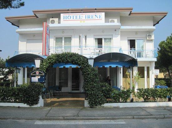Hotel Irene: la facciata dell'hotel