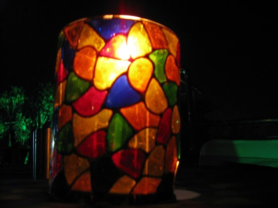 Hotel Taj Resorts: candle at rooftop tables