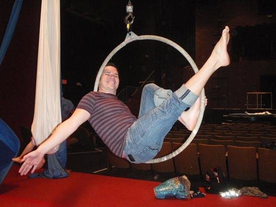 AntiGravity Orlando: Carlos playing with the lyra!