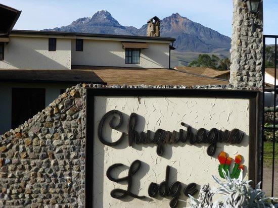 Chuquiragua Lodge & Spa: View of Las Ilinizas