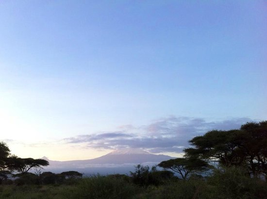 Kibo Safari Camp: ...and you can see this amazing view simply from your tent!