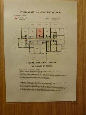 """Resident Harrachov: ..verkehrter Fluchtplan bei Feuer ...das ist der """" 1 Stock """""""