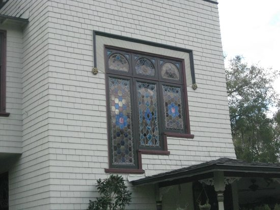 Stetson Mansion: One of the stain glass windows