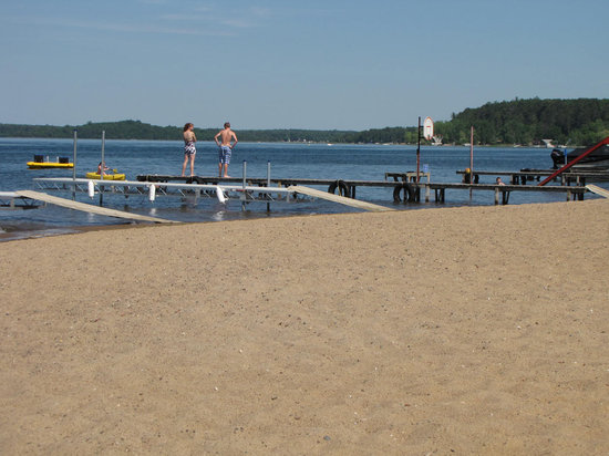Motley, MN: Relax by the lake on our beautiful sandy beaches