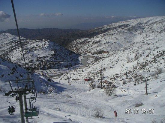 Mount Hermon : Sesselliftfahrt