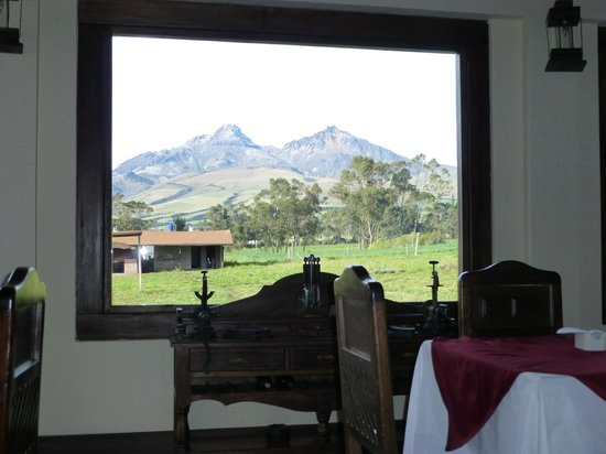 Chuquiragua Lodge & Spa: View from Dining Room