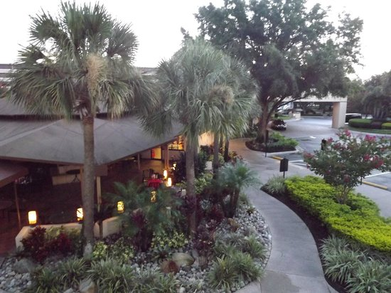 Rosen Inn at Pointe Orlando: view from 1st floor stairs
