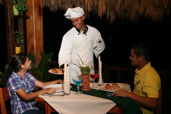 Amber Sunset Jungle Resort: Enjoy delicious meals at our Jungle Pot Restaurant