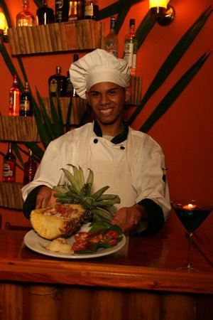 Amber Sunset Jungle Resort: Enjoy a delicious meal prepared by our Chefs