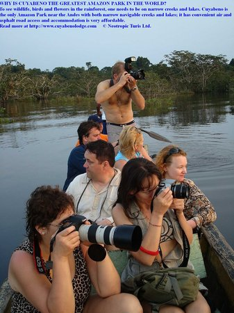 Cuyabeno Lodge: Some like to focus their cameras.......