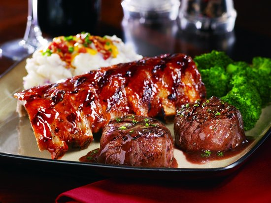 Tony Roma's: Filet medallions and Baby back rib combo
