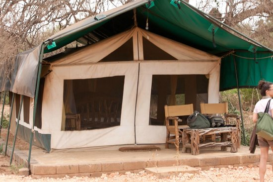 Ndololo Camp : la tenda